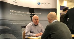 Triton Knoll procurement manager John Kane meeting businesses at the recent supplier event in Boston.