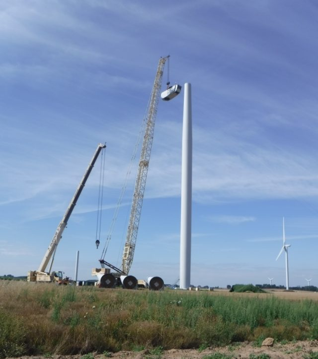 Ahead Of Schedule At Sommette Wind Farm