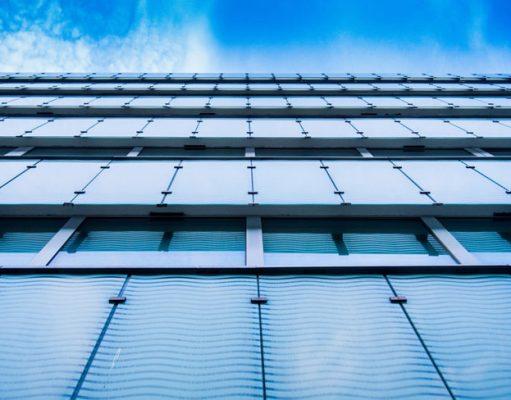 Modern solar PV on city buildings