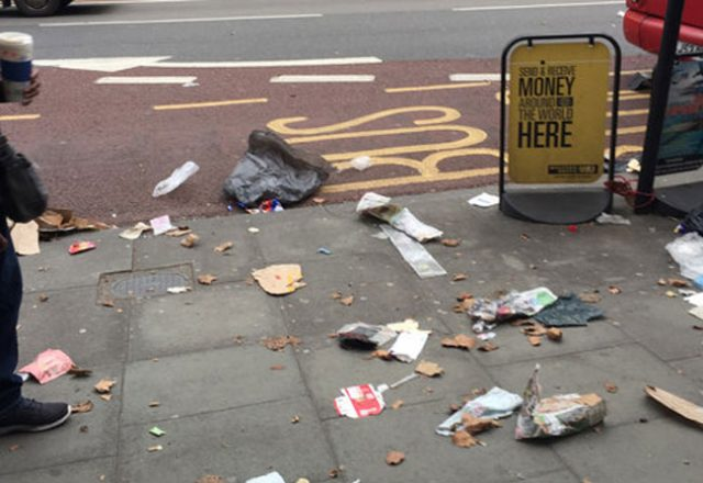 Street litter - UK