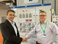Pictured at the Energy Centre are Paul Vernon, Chief Executive of Thornton Science Park, and Bruce Nicholson, PowerHouse Energy Group's Commercial Operations Manager.