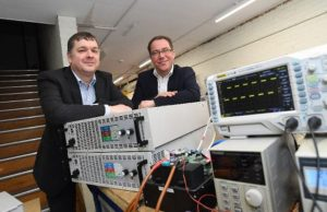 Peter James of Lyra Electronics and Dirk Schafer of Business Ready